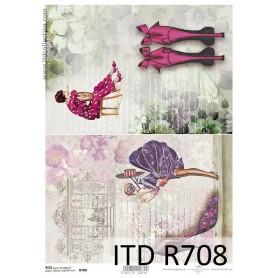 Papel Arroz Moda y Tacones 30x21cm