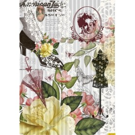 Papel de Arroz Lady Shoe 30x41cm