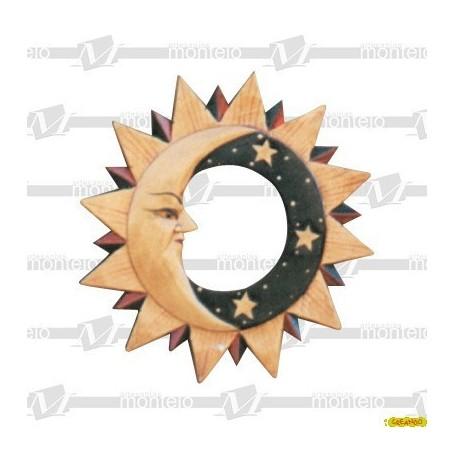 Espejo Sol Pequeño (Sin Decorar) Ext.30X29 Int.10X12 Cm