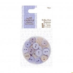 Botones de Lunares Lavanda Capsule ( 30 pzas)