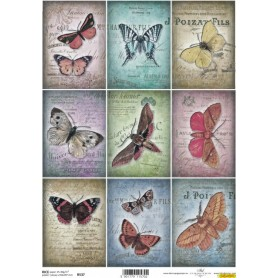 Papel Arroz Tags Mariposas REF.R537