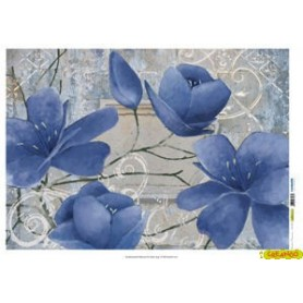 Papel de Arroz 70x50cm Winter Flowers REF.027M