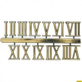 Pack Numeros Romanos Dorados Para Reloj 11mm
