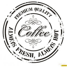 Stencil Decor Sello Coffee 45x45cm
