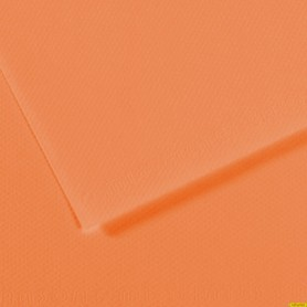 Papel Mi-Teinte NARANJA. 160 Gramos, medida 50x65cm