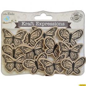 CHIPBOARD Kraft mariposa
