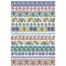PAPEL DE ARROZ GIPSY GRECAS 35x50cm Ref. DGR301