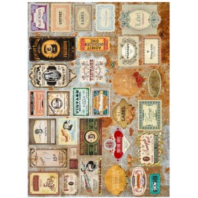 Papel de Arroz Decoupage Cadence  Label Retro 30x41 cm.