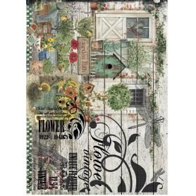 Papel de Arroz Cadence Garden Patch 30x41 cm Ref. 356