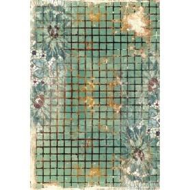Papel de Arroz Cadence Teselas Verdes 30x41 cm Ref. 553