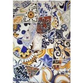 Papel de Arroz Cadence Azulejos Rotos 30x41 cm Ref. 554
