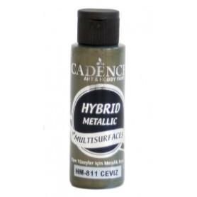Pintura Acrílica Multisuperficie Hybrid  Metálica Cadence Nuez Ref. H811