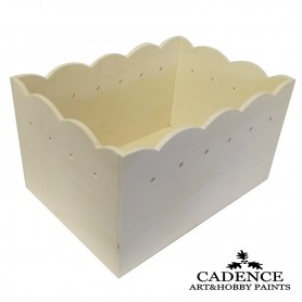 Cesto Rectangular Madera Cadence 35x25x20 cm. Ref. 886039