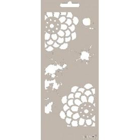 Stencil Mix Media Flores Y Manchas 10x25 cm.