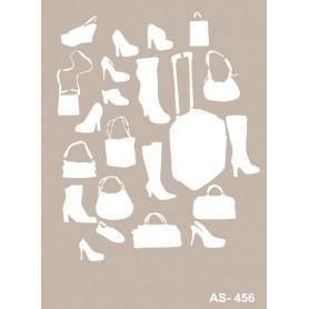 Stencil Zapatos Y Bolsos 21x30 cm.