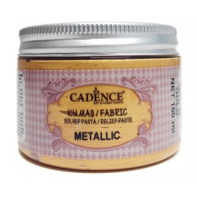 Pasta de Relieve Textil Cadence Metallic Oro 150ml Ref. 15903