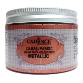 Pasta de Relieve Textil Cadence Metallic Cobre 150ml Ref. 15927