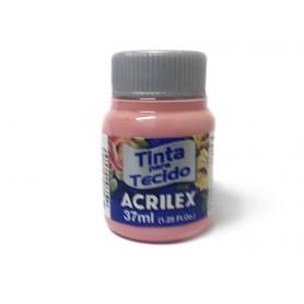 Pintura textil al agua Acrilex Rose 37ml Ref. 988