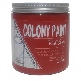 "Pintura al agua efecto Chalky red velvet ""Colony Paint"""