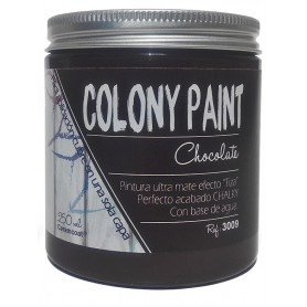 "Pintura al agua efecto Chalky chocolate ""Colony Paint"""