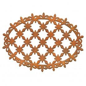 Siluetas madera Cenefa Óvalo 10x7 cm