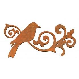 Siluetas madera Pájaro Rama 7x10 cm
