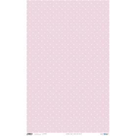 Papel Cartonaje Lunares Blancos Fondo Rosa 50x80 cm 120 gr Ref. PFY668