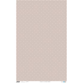 Papel Cartonaje Lunares Beige Fondo rosa 50x80 cm 120 gr Ref. PFY671