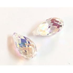 Colgante Lagrima Swarovski Crystal AB 11x5,5mm