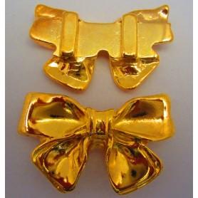 Entrepieza Lazo Grande Oro Brillante Pase 6mm