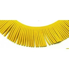 Cinta Ante Flecos Amarillo 29mm Largo  (se vende por cm)