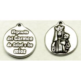 Medalla Virgencita del Carmen de salud a los mios 21 Diametro