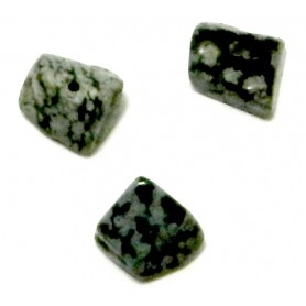 Cuenta piedra gris, 7x5mm aprox. Pase 6mm