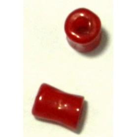 Tubo recto de resina rojo 10x6mm pase 3mm