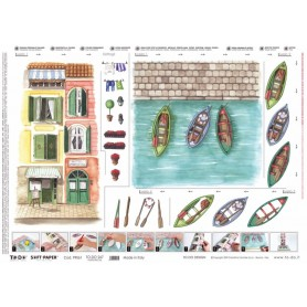 Papel TO-DO Teal Hotel Portofino (50x70cm)