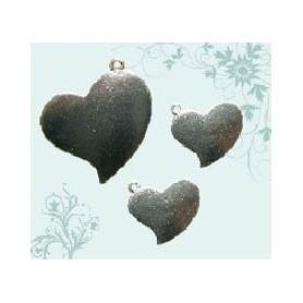 Charm corazones 3 pzs