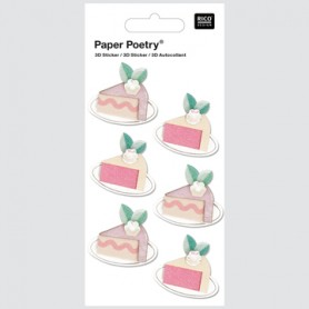 3D STICKER CAKE SLICE