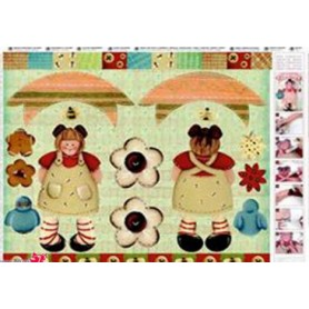 Papel TO-DO Decoupage Country Muñeca 50X70 cm. Ref. 221