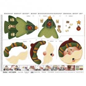 Papel TO-DO Decoupage Navidad Árbol Bola Papa Noel 50X70 cm. Ref. 314