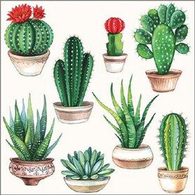 Servilleta Decorada Cactus
