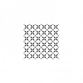Plantilla Stencil Home Decor Midi Cadence Fondo Circulos 25x25cm