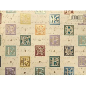 Papel Kartos Letras con Oro 50x69cm