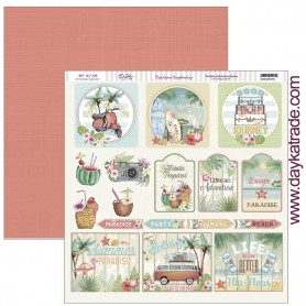 "Papel scrapbooking Dayka ""Good Journey "" 30,5x31,5 cm"
