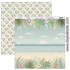 "Papel scrapbooking Dayka ""Playa Tropical"" 30,5x31,5 cm"