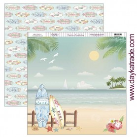 "Papel scrapbooking Dayka ""Tablas Surf"" 30,5x31,5 cm"