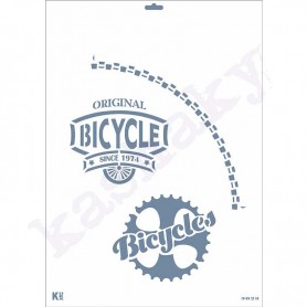 "Plantilla Stencil DIN A3 ""Bicycle"""