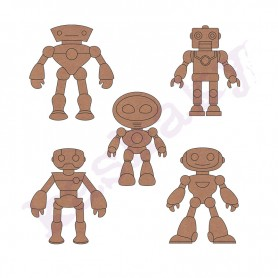 Siluetas De Robots
