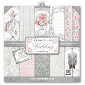 Coleccion Wedding 10 papeles Scrapbooking 30x30cm dos caras