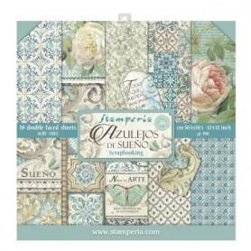 Colección Azulejos de Sueño 10 papeles Scrapbooking 30,5x30,5cm dos caras