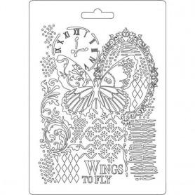 Molde Flexible A5 Stampería Mariposa y Manuscritos